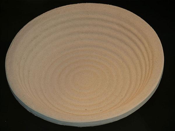 Cos de pulpa lemn,1Kg, rotund, diam 22cm, model crestat